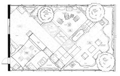 Modernist garden - materials and features